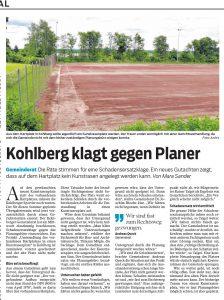 SWP 2017 07 21 Kunstrasen Kohlberg klagt gegen Planer